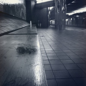 Granted, this tumbleweave is at the station and not on the actual train or bus.